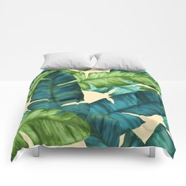 Tropical Banana Leaves Original Pattern Comforters