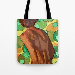 Vollyball player imagined Tote Bag