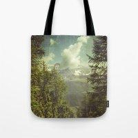 italian Tote Bags featuring Mountain View - Italian Alps by Dirk Wuestenhagen Imagery