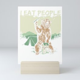 Bear Camp Grizzly People predator gifts Mini Art Print