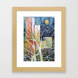 Le torri e la luna Framed Art Print