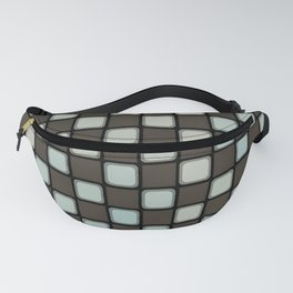 Checker Game:  Charcoal and Grey Fanny Pack