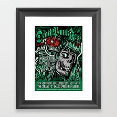 Deathpunkfest 2011 Framed Art Print