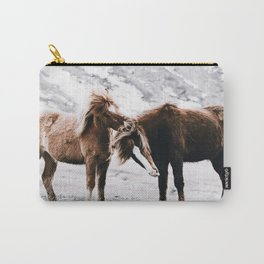 Wild Horses III / Iceland Carry-All Pouch