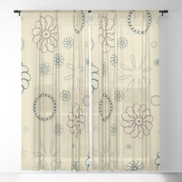 Assorted Flowers- Light Sheer Curtain