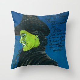 Elphaba-Wicked Throw Pillow