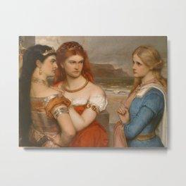 three ladies Metal Print