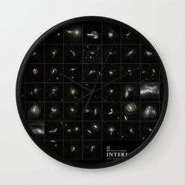 NASA Hubble Space Telescope Poster - Hubble Views of the Universe - Interacting Galaxies Wall Clock