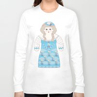 marie antoinette Long Sleeve T-shirts featuring Marie Antoinette by Late Greats by Chen Reichert