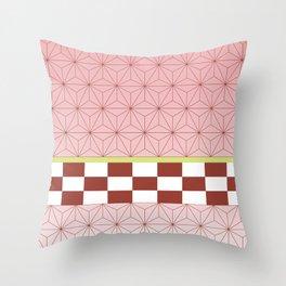 nezuko pattern Throw Pillow