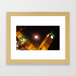 London By Night: Elizabeth Tower Framed Art Print