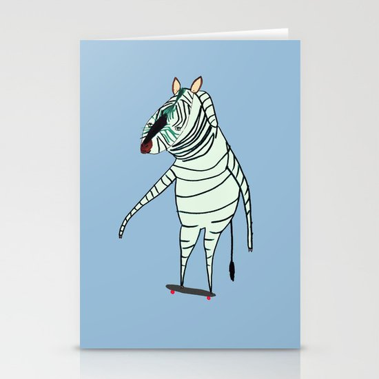 Zebra Dude Stationery Cards