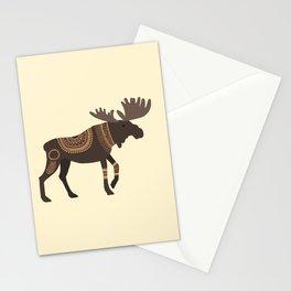 Scandinavian Folk Art Inspired Moose Stationery Cards