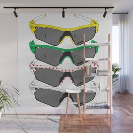 Tour de France Glasses Wall Mural