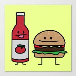 Ketchup and Handburger Canvas Print