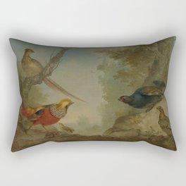Aert Schouman - Pheasants Rectangular Pillow