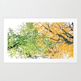 Tree Blend Art Print