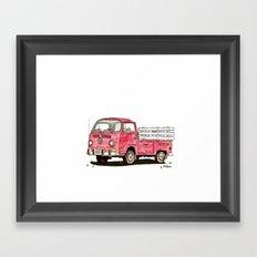 red rider Framed Art Print