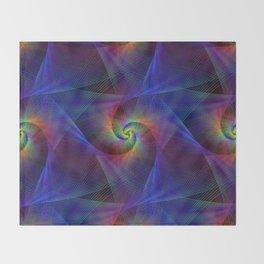 Fractal magic lights Throw Blanket