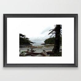 secluded beach Framed Art Print