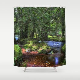 Quietly Flows The River Dart Shower Curtain