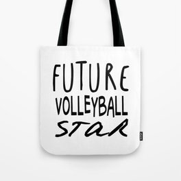 Future Volleyball Star Tote Bag