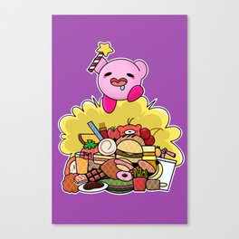 Kirby: Destroyer of Food! Canvas Print