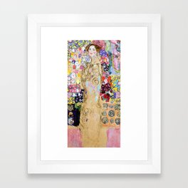 "Gustav Klimt ""Portrait of Maria Munk (unfinished)"" Framed Art Print"