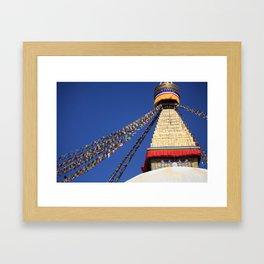 Bodnath stupa Gerahmter Kunstdruck