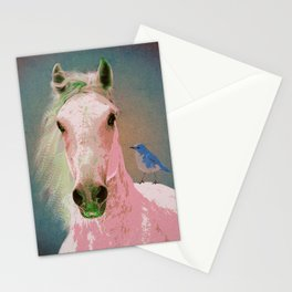 Mountain Bluebird Horse Stationery Cards
