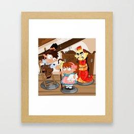 the shepherdess and the chimney sweep Framed Art Print