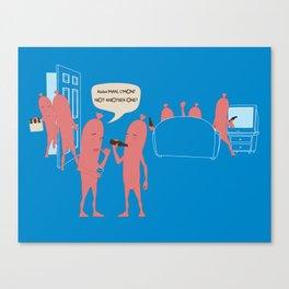 Sausage Party Canvas Print