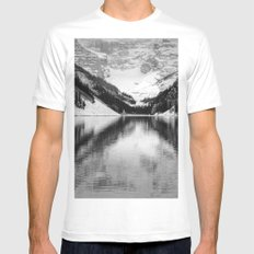 Water Reflections White MEDIUM Mens Fitted Tee