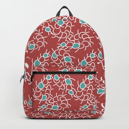 Red centipedes white legs Backpack
