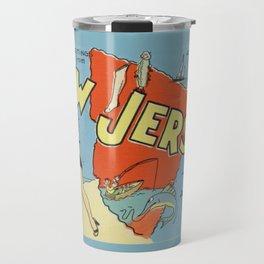 Retro New Jersey Beach Vintage Postcard Travel Mug
