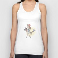 bonjour Tank Tops featuring bonjour by Mandie Kuo