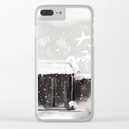 Big Snow Clear iPhone Case