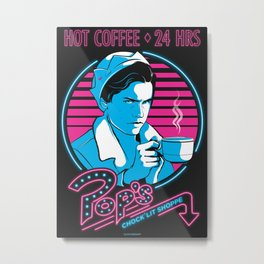 Hot Coffee and Pop Metal Print