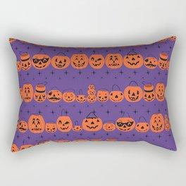 Trick or Treat Smell My Feet- Purple Rectangular Pillow