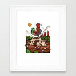 Monday On The Farm Framed Art Print