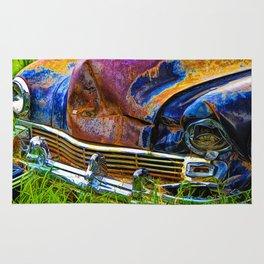 Vintage Frazer Auto Wreck Front End Rug