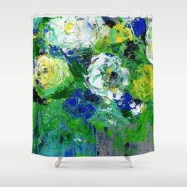 Abstract Floral - Botanical Shower Curtain