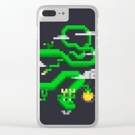 Pixel Celestial Dragon Clear iPhone Case