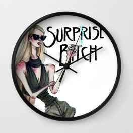 SURPRISE BITCH Wall Clock