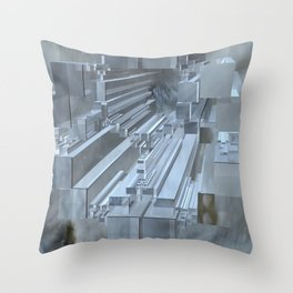 Apollonian gasket with cuboids Throw Pillow
