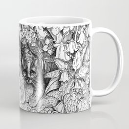Tropical Wild Cat with Passiflora Coffee Mug