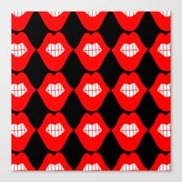 lip Canvas Prints featuring lip by Panic Junkie