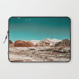 Vintage Desert Snow Living // Red Rock Canyon Landscape Scenic Winter View Photograph Laptop Sleeve
