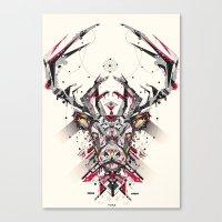 deer Canvas Prints featuring deer by yoaz
