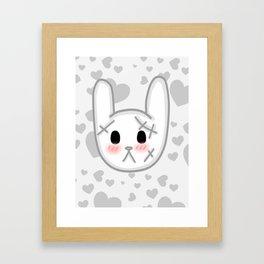 Halloween Kawaii Bunny Framed Art Print